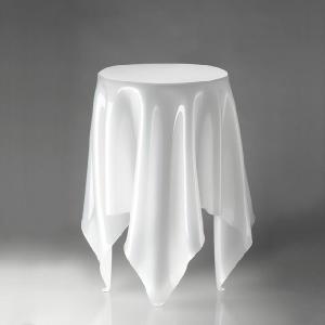 essey Tall Illusion サイドテーブル ホワイト エッセイ トールイリュージョン W...