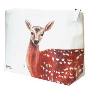 (メール便対応可) ディアラージトラベルポーチ トラベルバッグ トラベルグッズ用ポーチ 化粧ポーチ 鹿|antdesignstore