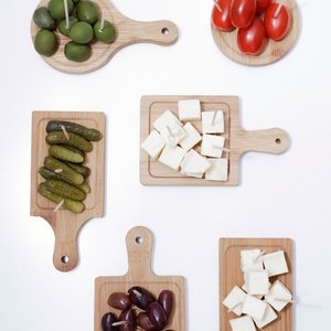 キッカーランド ミニサービングトレイ 6枚セット チーズプレート チーズトレイ トレー|antdesignstore