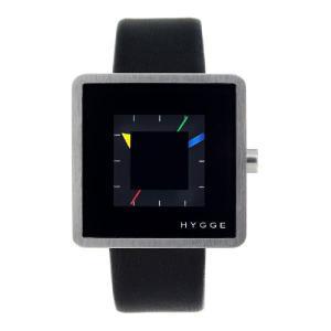 ヒュッゲ 2089 Leather Black 腕時計 ユニセックス HYGGE 時計|antdesignstore