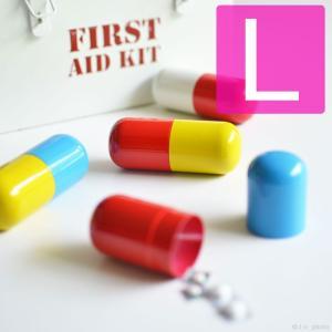 カプセルピルケース ラージ ピルケース カプセル ピルボックス 薬 薬ケース 薬箱 薬入れ Lサイズ L 錠剤 おくすり|antdesignstore