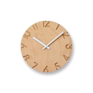 レムノス CARVED WOOD BIRCH(NTL16-04) 掛け時計|antdesignstore