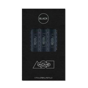 アクメ ACME 水性リフィル・黒 5本セット ローラーボールペン用 #888 替芯 交換 ブラック antdesignstore