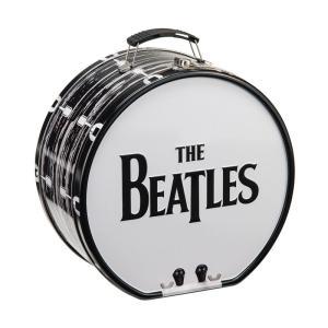 ビートルズ ドラム ブリキトート エンボス The Beatles ランチボックス ドーム型 ブリキ缶ランチボックス|antdesignstore
