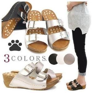 リフレクソロジー サンダル 靴 レディース 歩きやすい ミュール 厚底 フラット|antelope