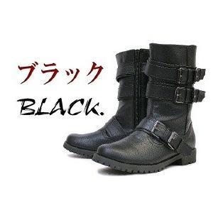 エンジニアブーツ 靴 レディース 歩きやすい ミリタリーブーツ  ベルト ミドルブーツ|antelope|02