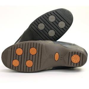 靴 レディース 歩きやすい スリッポンシューズ コンフォート ラウンドトゥ バイカラー ウェッジソール|antelope|09