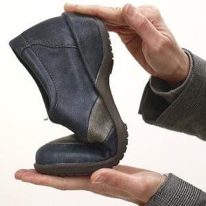 靴 レディース 歩きやすい スリッポンシューズ コンフォート ラウンドトゥ バイカラー ウェッジソール|antelope|10
