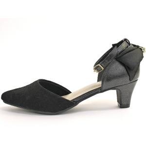 セパレートパンプス 靴 レディース 歩きやすい レース柄 ネックストラップ ローヒール|antelope|11