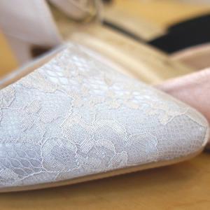 セパレートパンプス 靴 レディース 歩きやすい レース柄 ネックストラップ ローヒール|antelope|14