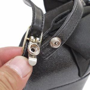セパレートパンプス 靴 レディース 歩きやすい レース柄 ネックストラップ ローヒール|antelope|15