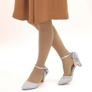 セパレートパンプス 靴 レディース 歩きやすい レース柄 ネックストラップ ローヒール|antelope|05