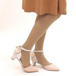 セパレートパンプス 靴 レディース 歩きやすい レース柄 ネックストラップ ローヒール|antelope|06