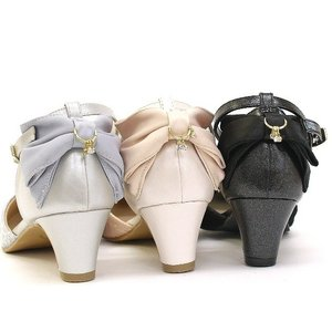 セパレートパンプス 靴 レディース 歩きやすい レース柄 ネックストラップ ローヒール|antelope|08