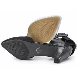 セパレートパンプス 靴 レディース 歩きやすい レース柄 ネックストラップ ローヒール|antelope|10