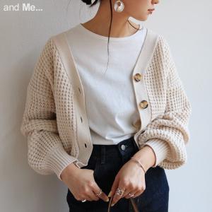 ワッフル編みのざっくりとした質感と、 ボリューム感のある風合いが こなれ感たっぷり!! ミドルゲージ...
