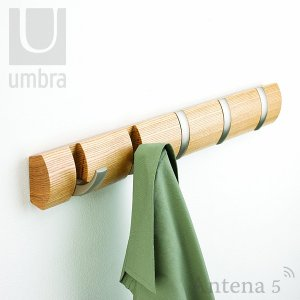 Umbra フリップフック(5) リビング 寝室 玄関 ハンガー コートフック 収納フック|antena5