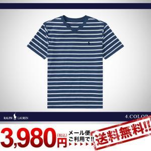 ラルフローレン トップス Tシャツ Vネック 半袖 RALPH LAUREN boys Striped Jersey V-Neck T-Shirt 425377 ゆうパケットで送料無料 s-m|anthem