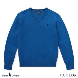 ラルフローレン トップス セーター Vネック RALPH LAUREN boys Cotton V-Neck Sweater 444522 s-s|anthem