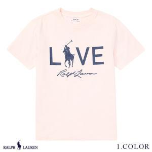 ポロ ラルフローレン Tシャツ ビッグポニー 半袖 TEE RALPH LAUREN boys Pink Pony Live Love T-Shirt 444573 ゆうパケット送料無料 9月12〜発送予定 s-m|anthem