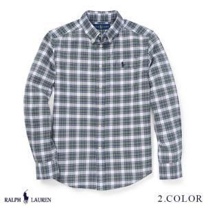 ラルフローレン オックスフォード コットン シャツ RALPH LAUREN boys Plaid Cotton Oxford Shirt 444612 s-m ゆうパケットで送料無料|anthem