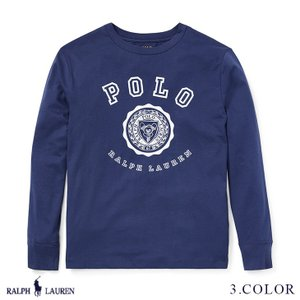 ラルフローレン トップス Tシャツ 長袖 TEE RALPH LAUREN boys Cotton Jersey Graphic T-Shirt 444674 ゆうパケットで送料無料 s-m|anthem