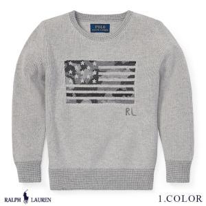ポロ ラルフローレン トップス セーター コットン フラッグ 国旗 RALPH LAUREN boys Camo Flag Cotton Sweater 459279 s-s|anthem