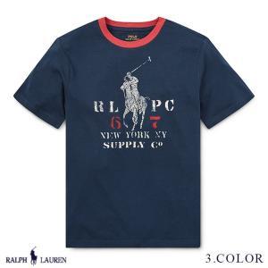 ラルフローレン トップス Tシャツ TEE RALPH LAUREN boys Cotton Jersey Ringer T-Shirt 459313 ゆうパケットで送料無料 s-m|anthem