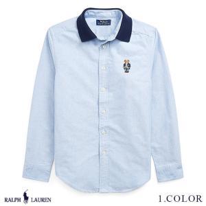 ラルフローレン コットン ポロベアー シャツ RALPH LAUREN boys Polo Bear Cotton Oxford Shirt 474148 ゆうパケットで送料無料  予約 10月10〜発送予定 s-m|anthem