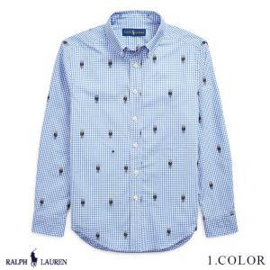 ラルフローレン コットン ポロベアー シャツ RALPH LAUREN boys Polo Bear Gingham Cotton Shirt 474149 ゆうパケットで送料無料  予約 10月10〜発送予定 s-m|anthem