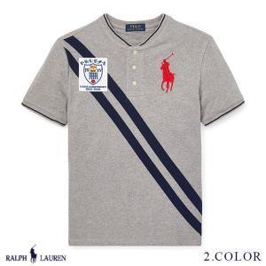 ラルフローレン トップス Tシャツ TEE ヘンリーネック RALPH LAUREN boys Striped Cotton Mesh Henley 474185 ゆうパケットで送料無料 s-m|anthem