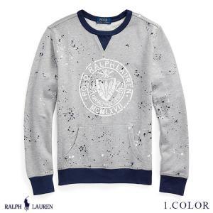 ポロ ラルフローレン スウェットシャツ スエット ツイルテリー トップス RALPH LAUREN boys Twill Terry Graphic Sweatshirt 474203 s-s|anthem
