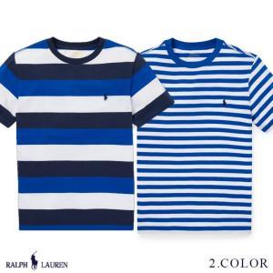 ラルフローレン トップス Tシャツ 半袖 TEE ストライプ RALPH LAUREN boys Striped Cotton Jersey Tee 474204 ゆうパケットで送料無料 s-m|anthem