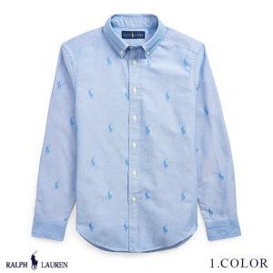 ラルフローレン コットン ボタンダウン シャツ RALPH LAUREN boys Allover-Pony Cotton Shirt 475205 ゆうパケットで送料無料  予約 9月5〜発送予定 s-m|anthem