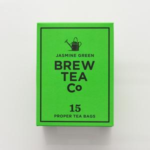 ジャスミンの香り高いティーバッグのジャスミン茶です。豊かな緑の緑茶を摘み、そこにジャスミンの花の香り...