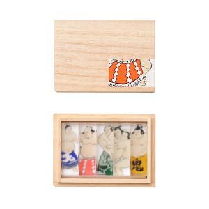 toumei / 関取_箸置き_木箱入り5個set