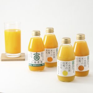 小南農園 / 実りの収穫4種の柑橘ジュース飲み比べセット