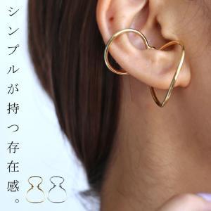 「イヤーカフ」片耳用 お洒落 華やか 快適 シンプル アクセント 日本製 ゴールド シルバー アンティカフェ|antiqcafe