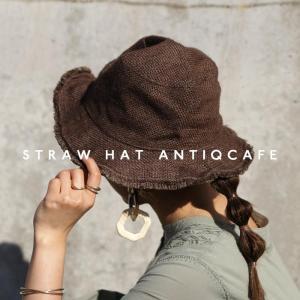 メール便可 麦わら帽子 ハット 帽子 ギフト アンティカフェ|antiqcafe