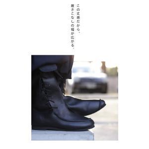 靴 クツ ブーツ レザー 本革編み上げブーツ・再販。##メール便不可 antiqua 16