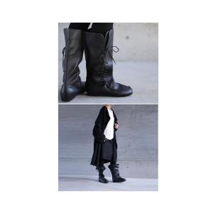 靴 クツ ブーツ レザー 本革編み上げブーツ・再販。##メール便不可 antiqua 17