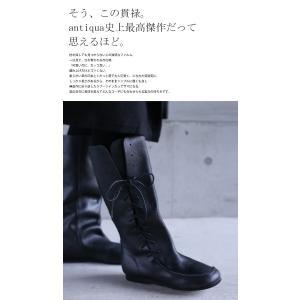 靴 クツ ブーツ レザー 本革編み上げブーツ・再販。##メール便不可 antiqua 05