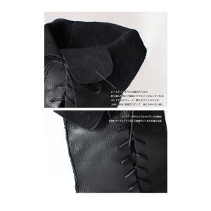 靴 クツ ブーツ レザー 本革編み上げブーツ・再販。##メール便不可 antiqua 09