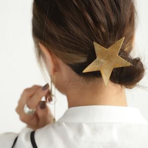 星 モチーフ ヘアゴム ゴールド 大人 star motifヘアゴム・再再販。(30)メール便可|antiqua