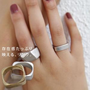 アクセ アクセサリー リング 指輪 レディース ゴールド スクエアリング・7月3日20時〜発売。(10)メール便可|antiqua