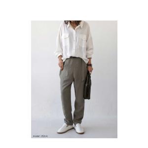 トップス シャツ 長袖 レディース レーヨン ゆったり フラップポケットシャツ・1月11日20時〜発売。(80)メール便可 antiqua 12