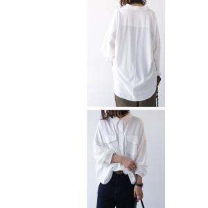 トップス シャツ 長袖 レディース レーヨン ゆったり フラップポケットシャツ・1月11日20時〜発売。(80)メール便可 antiqua 15