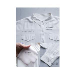トップス シャツ 長袖 レディース レーヨン ゆったり フラップポケットシャツ・1月11日20時〜発売。(80)メール便可 antiqua 06