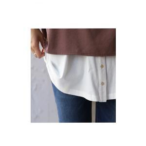 トップス インスタ キャミ レディース 綿 綿100 裾ボタンキャミソール・5月13日20時〜発売。30ptメール便可|antiqua|05