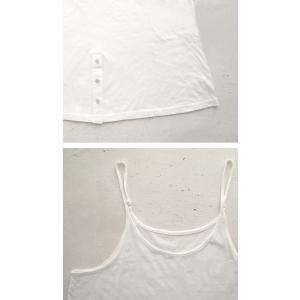 トップス インスタ キャミ レディース 綿 綿100 裾ボタンキャミソール・5月13日20時〜発売。30ptメール便可|antiqua|09